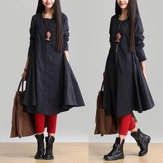 A super cute jacket, retro fashion Round neck and long sections, single-breasted cardigan, It does not require a complex design and ornate, Simple, but