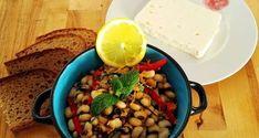 Συνταγή: Μαυρομάτικα φασόλια σαλάτα με σπανάκι και βινεγκρέτ εσπεριδοειδών