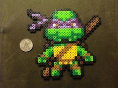 Tmnt Donatello perler beads design <3