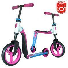 Hulajnoga i rowerek 2w1 Highwaybuddy SCOOTANDRIDE - Pink 3+