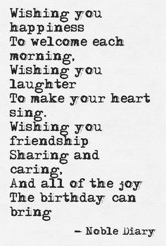 birthday quotes \ birthday quotes & birthday quotes for best friend & birthday quotes for me & birthday quotes for him & birthday quotes funny & birthday quotes inspirational & birthday quotes for daughter & birthday quotes for sister Happy Birthday Quotes For Friends, Birthday Verses, Happy Birthday Wishes Quotes, Best Birthday Quotes, Happy Birthday Fun, Poems For Friends, Inspirational Birthday Quotes, Birthday Poem For Friend, Birthday Greetings