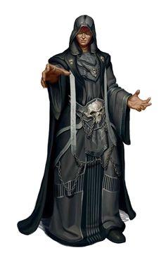 Male Human Necromancer Wizard - Pathfinder PFRPG DND D&D d20 fantasy