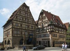 Meat and Dance Hall with St. George's Fountain - Rothenburg ob der Tauber, Bavaria.