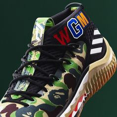 promo code d093d fb757 Fancy  Adidas Dame 4 A Bathing Ape Camo Adidas Dame, A Bathing Ape,