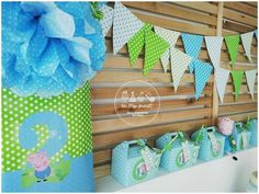 Be My Guest Party's Birthday / George Pig - Photo Gallery at Catch My Party Cumple George Pig, Peppa E George, George Pig Party, Pig Birthday, Happy 2nd Birthday, 3rd Birthday Parties, Kids Party Decorations, Party Themes, Party Ideas