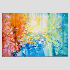 Abstract painting Large Modern XXl Turquoise bleu vert