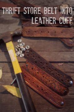 diy belt bracelet | Cool Bracelets to Make: DIY Leather Bracelet | How to Make a Bracelet