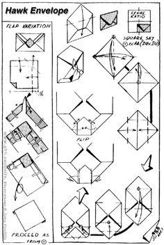 Envelope and Letter Folding: Hawk Envelope Paper Bracelet, Paper Earrings, Letter Folding, Paper Folding, Origami Envelope, Origami Paper, Dyi Crafts, Paper Crafts, Carton Diy