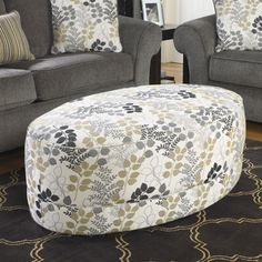 Signature Design by Ashley Makonnen Print Accent Ottoman | Overstock™ Shopping - Great Deals on Signature Design by Ashley Ottomans