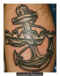 dark anchor tattoo thigh Anchor tattoo is another maritime tattoo that is popular among sailors or pirates as a symbol of their love for the great sea. Us Navy Tattoos, Navy Anchor Tattoos, Marine Tattoos, Naval Tattoos, Anchor Tattoo Men, Anchor Tattoo Meaning, Army Tattoos, Sailor Tattoos, Military Tattoos