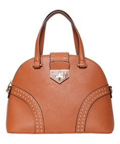 This Tan Page Stud Bowler by Elise Hope is perfect! #zulilyfinds