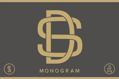 DS Monogram SD Monogram Graphics Our DS Monogram focuses on clean lines and curves to create a beautifully balanced monogram. Its us by Shuler Studio Typography Inspiration, Logo Design Inspiration, Design Ideas, Monogram Logo, Monogram Letters, Gate Logo, Sd Logo, Alphabet Images, Clever Logo
