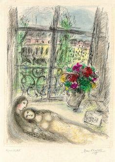 Marc Chagall ~ Quai des Célestins. #Jewish #art #marc-chagall #marcchagall #MarcChagall