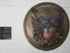"""Shield of America"" Artist ~ James N. Muir. Donated by Tom and Cheryl Lincoln."