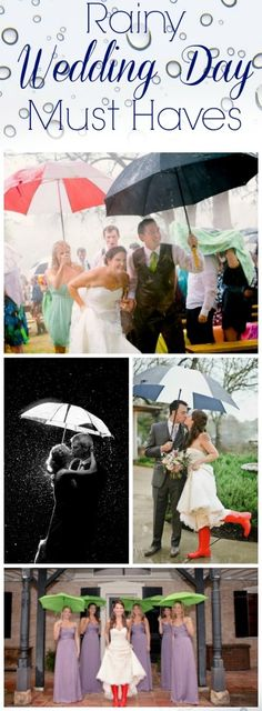 Rainy Wedding Day Must Haves - The Best List Of Things You Need If It Rains On Your Wedding!