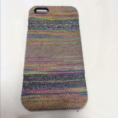 Free People IPhone 5 Case Free People IPhone 5 Case multi colored woven texture with silver threading. Free People Accessories Phone Cases