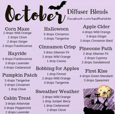 Grab the oils to make these spooky blends here! essential oil blends doterra Doterra US Site Fall Essential Oils, Essential Oil Diffuser Blends, Essential Oil Uses, Essential Oil Combinations, Diffuser Recipes, Aromatherapy Oils, Aromatherapy Recipes, Heartburn, Diffusers