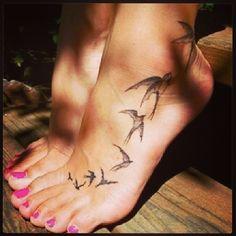 Swallow Foot Tattoo