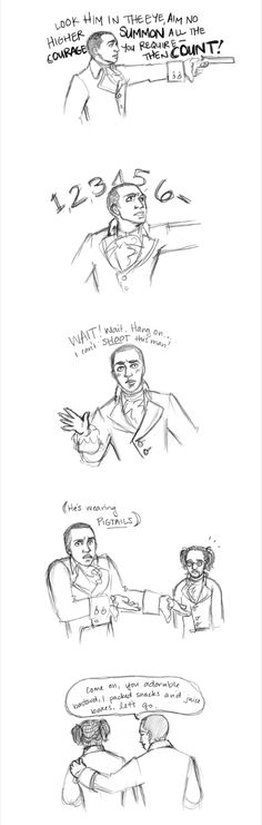 AU where everything is the same except Hamilton has pigtails.