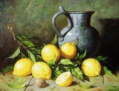 Lemon Painting, Lemon Head, Still Life Drawing, Photo Sketch, Farmhouse Style, Glass Art, Watercolor, Crafty, Drawings