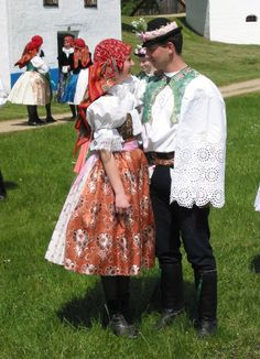 Strážnice - Slovácké costumes from South Moravia, Czech Republic Folk Costume, Costume Dress, Costumes, World Of Color, My Heritage, Beautiful Patterns, Czech Republic, Traditional Dresses, Folklore