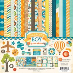 All about a boy...fun & games, just in time, I'm finally thinking of doing a baby album for Jake!