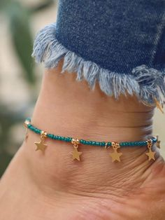 To find out about the Star Charm Beaded Anklet at SHEIN, part of our latest Body Jewelry ready to shop online today! Beaded Anklets, Anklet Jewelry, Beaded Jewelry, Handmade Jewelry, Beaded Bracelets, Jewellery, Ankle Chain, Bracelet Crafts, Beads And Wire