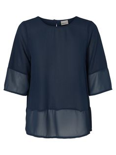 Blue loose fit t-shirt from VERO MODA!