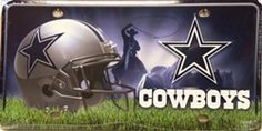 Dallas Cowboys NFL Embossed Vanity Metal Novelty License Plate Tag Sign MTG1802