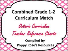 A complete outcome correlation for the combined classroom. The entire curriculum for grade 1 and grade 2 is mapped and connected by strand as well as outcome. This product is based on  the Ontario curriculum. If you require a different province or state, please email brophyrose@gmail.com with your request.