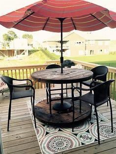 pallet cable spool furniture idea 2