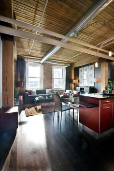 I just love loft homes!