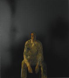 """loverofbeauty: """" Michelangelo Pistoletto:  Figura su sfondo nero (1961) """""""