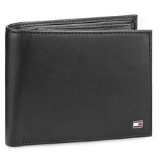 Duży Portfel Męski TOMMY HILFIGER - Eton Cc Flap And Coin Pocket AM0AM00652 002 Tommy Hilfiger, Coins, Pocket, Coining, Rooms