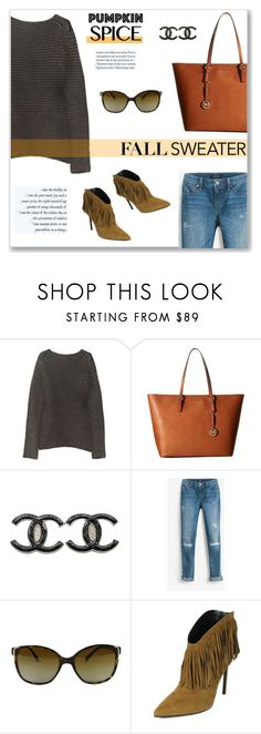 """""""Fall Sweater"""" by snobswap ❤ liked on Polyvore featuring Alexander Wang, MICHAEL Michael Kors, Chanel, White House Black Market, Prada, Yves Saint Laurent and StellaMcCartney"""
