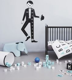 Introducing ABC in Kids' Rooms - by Kids Interiors Alphabet Wall Art, Alphabet Wallpaper, Arne Jacobsen, Wooden Cubes, Shops, Lettering Design, Design Letters, Learning The Alphabet, Room Posters