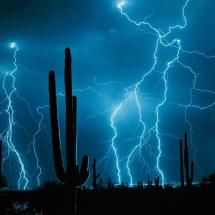 Mohave lightning strikes