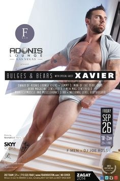 Bulges & Bears feat. XavierMuscle + The F Men #Houston #event #gay #ad #visual #porn #model #hairy #muscle