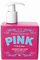 "Pink body lotion. I love ""Fresh and Clean"""