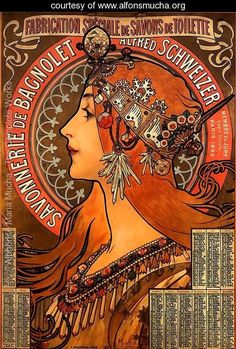 One of my favorite Mucha pieces. A very early infographic. Savonnerie De Bagnolet