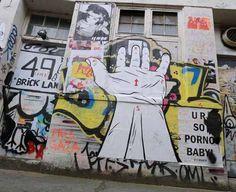 Photograph of Street art and graffiti for London E1 Brick Lane