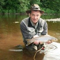 Matthew Wright Channel 5 Five TV Presenter Chat Show Host Discussion I'm A Celebrity Get Me Out Of Here | Fly Fishing Country Sports Fisherman Fish Brown Rainbow Trout Salmon Catch Record Course Fishing Flies | Fur Feather & Fin Country Lifestyle Pursuits Gifts Products Items