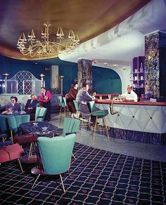 Midcentury Modern Retro Vintage Interior Design Decor Architecture Ritz Hotel Bar Vancouver