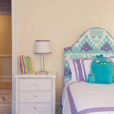 Kazak, aqua and purple, fairfax nightstand. love.