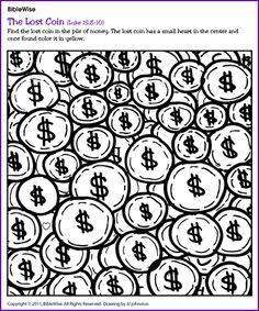 parable of the lost coin coloring page - parable of the lost coin on pinterest coins pop up