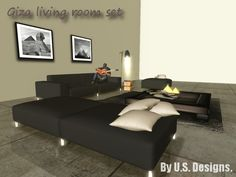 NEW!!! U.S.Designs Giza livingroom set - 373 HQ animations - Xpose powered and Xcite! compatible