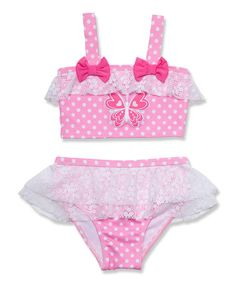 Look what I found on #zulily! Pink Butterfly Bikini - Infant, Toddler & Girls by Penelope Mack #zulilyfinds