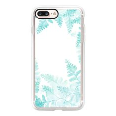 Ferns Jungle - iPhone 7 Plus Case And Cover ($39) ❤ liked on Polyvore featuring accessories, tech accessories, iphone case, apple iphone case, iphone cover case, iphone cases and clear iphone case