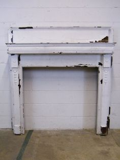 Columbus Architectural Salvage - Painted Wood Fireplace Mantel