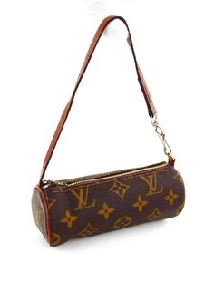 b5270ccc977 Vintage Louis Vuitton Papillon 16 Monogram Canvas Leather Mini Tote Bag